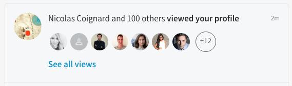 notifications linkedin vue profil