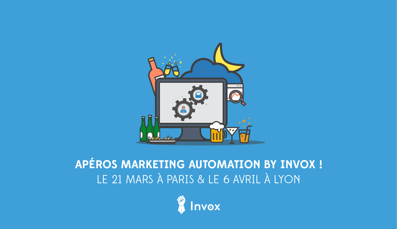 apéro marketing automation invox Lyon et Paris