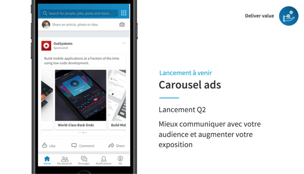 LinkedIn et la demand generation : Carousel Ads