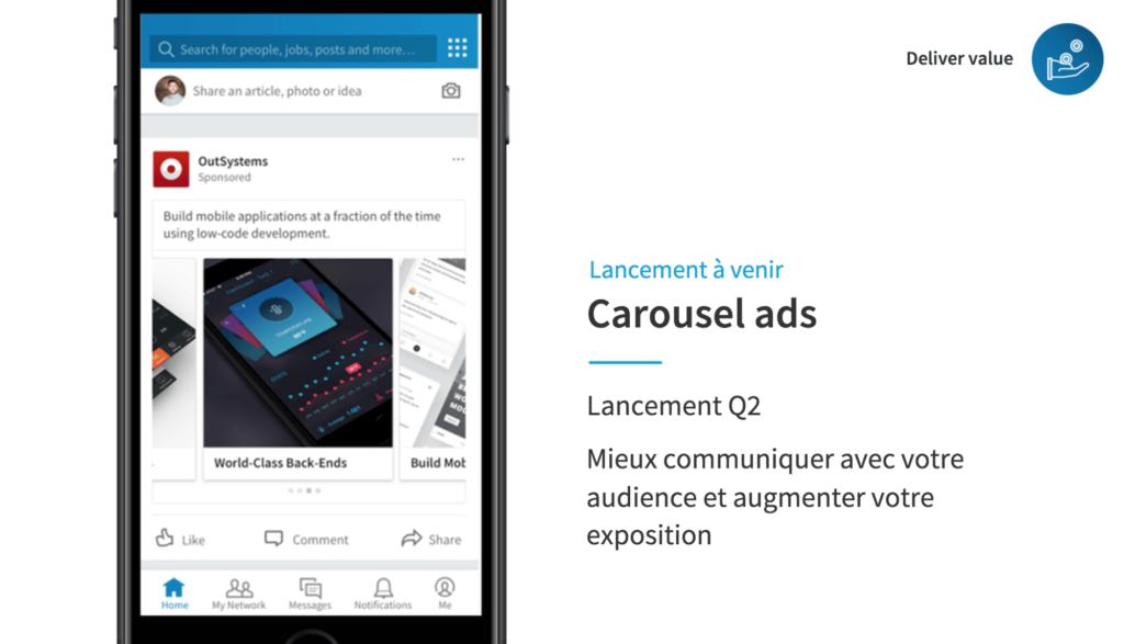 LinkedIn et la demand generation : Carousel Ads