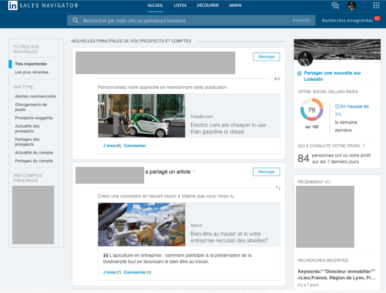 LinkedIn et la deamnd generation : Sales Navigator