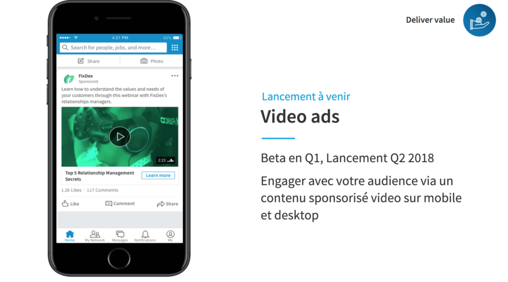 LinkedIn et la demand generation : Video Ads