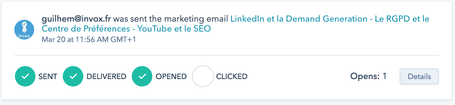 tracking email HubSpot