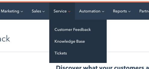 aperçu de HubSpot Service