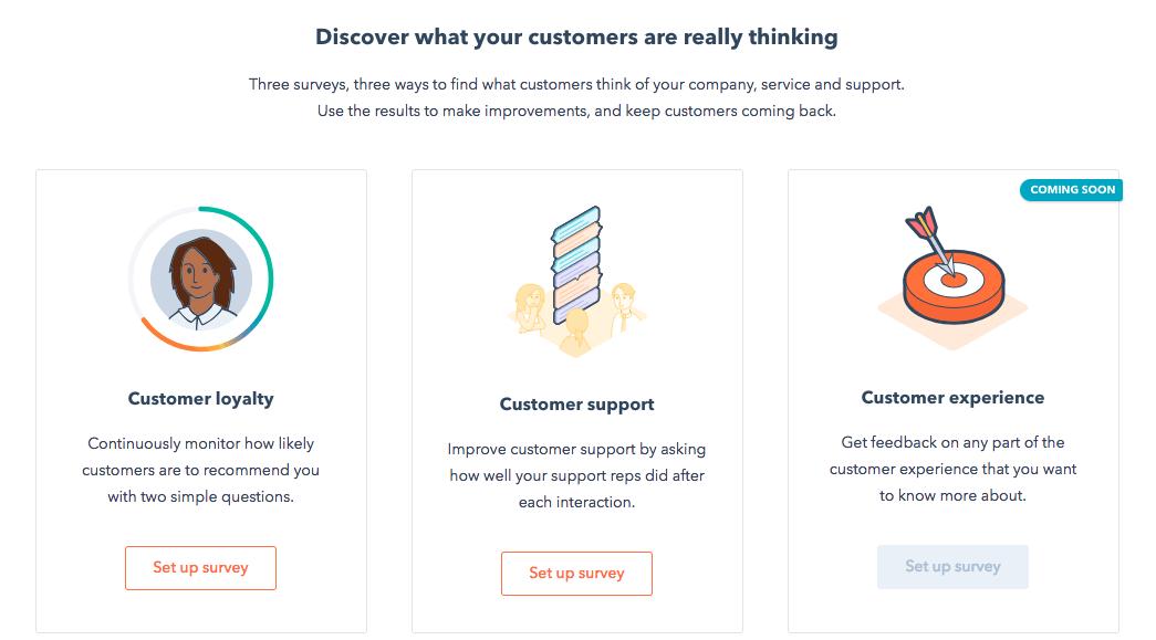 HubSpot Service : questionnaire NPS ou qualité du support