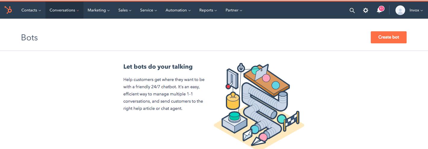 chatbot HubSpot Service