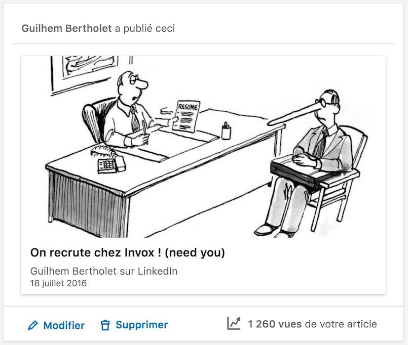 Le «book» et les tribunes LinkedIn de Guilhem Bertholet