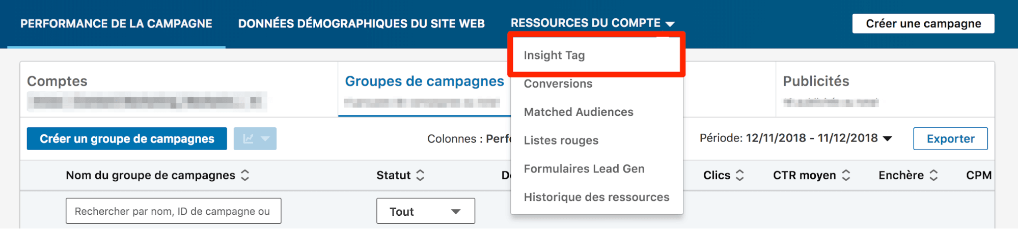 demand generation avec LinkedIn insight tag