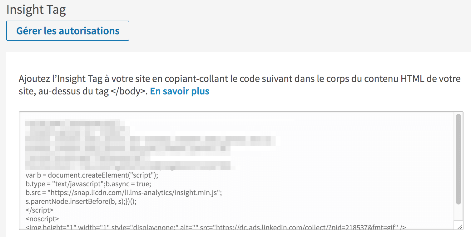 demand generation avec linkedin insight tag : configuration