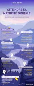 Déclinaison de contenus : infographie maturité digitale