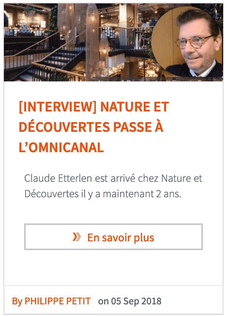 Déclinaison de contenus : interview Nature et Découvertes