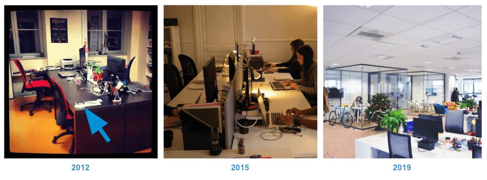 Evolution des bureaux de l'agence Invox