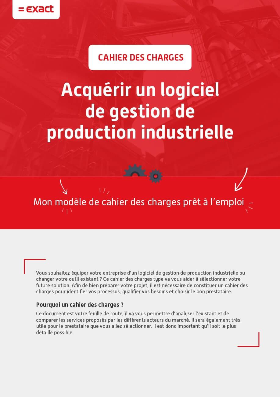 Exact – Acquérir un logiciel de gestion de production industrielle