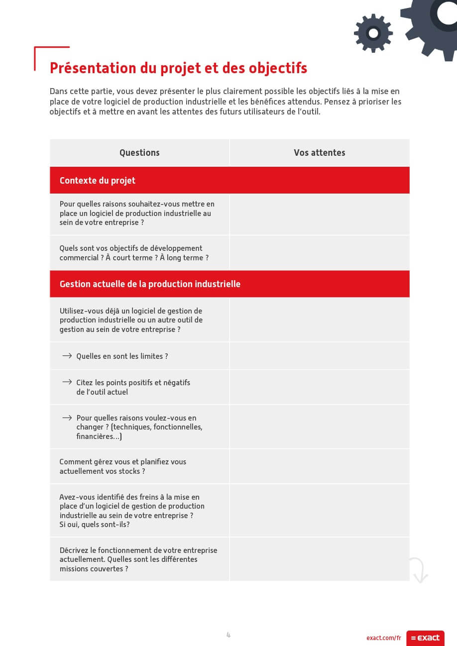 Cahier des charges Exact 3
