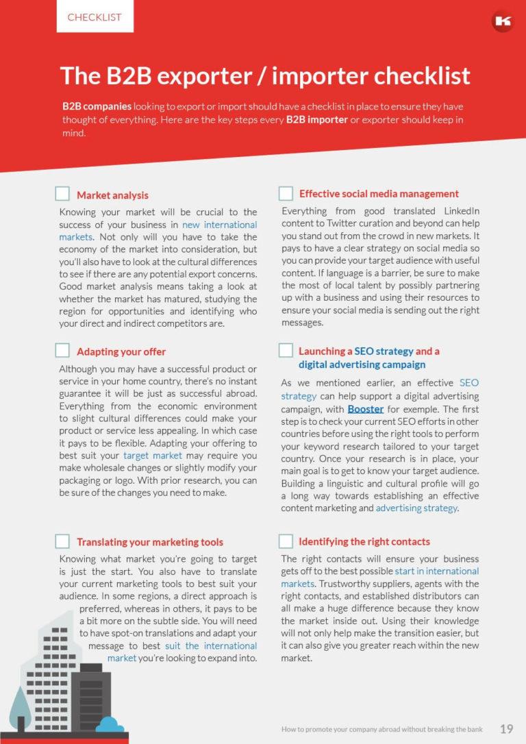 Kompass – The B2B exporter / importer checklist