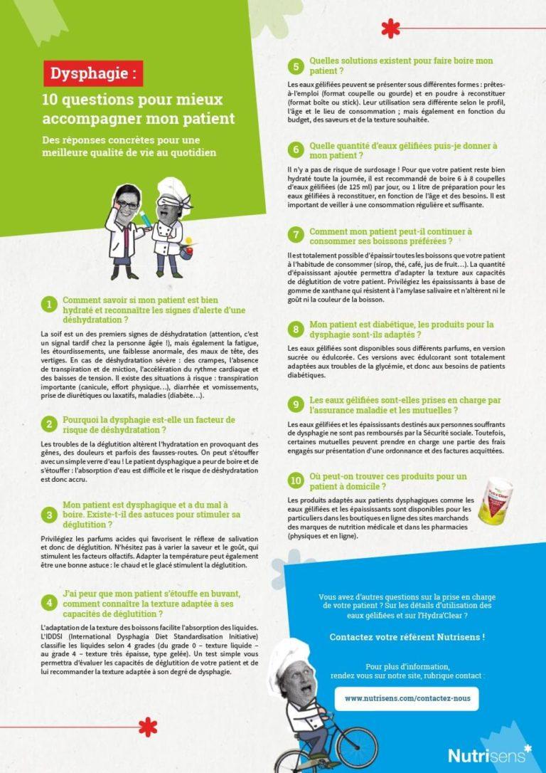 Nutrisens – Dysphagie : 10 questions pour mieux accompagner mon patient