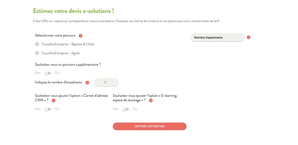 Proactive Academy – Le simulateur de devis E-solutions