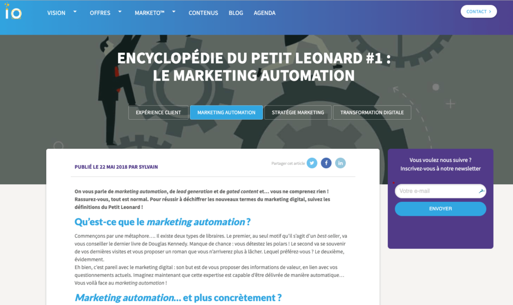 Merlin / Leonard – L'encyclopédie du marketing automation