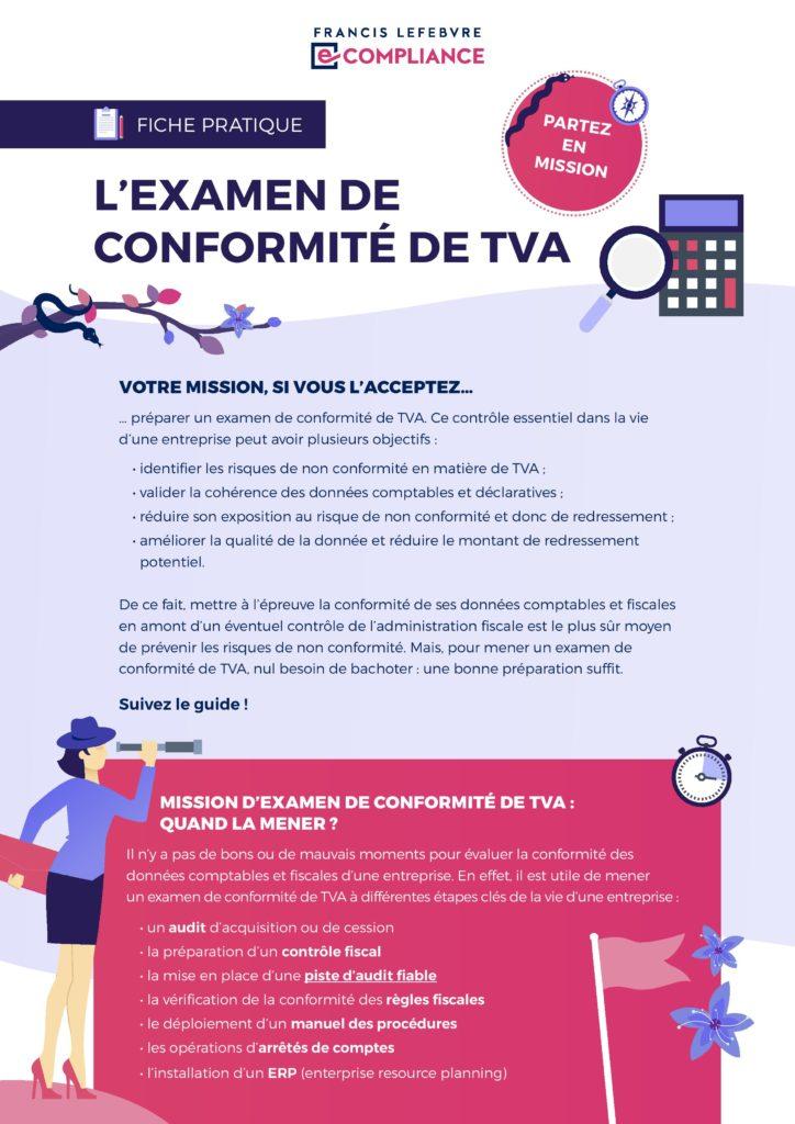 Francis Lefebvre e-Compliance – L'examen de conformité de TVA