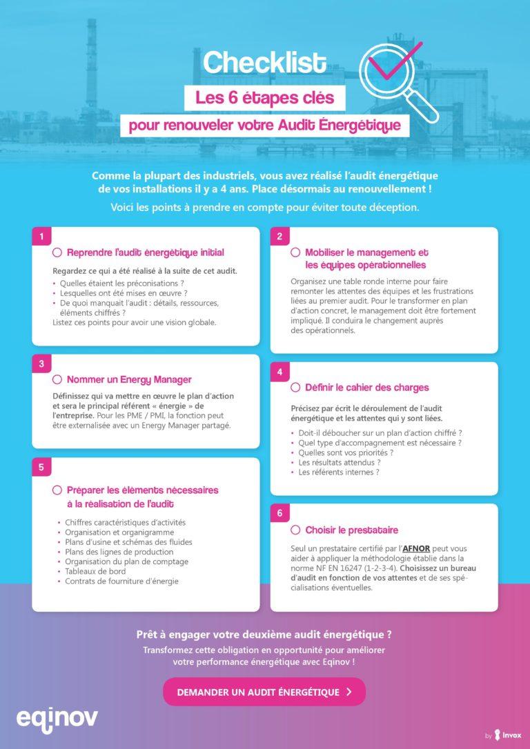 Eqinov – Les 6 étapes clés pour renouveler votre audit énergétique