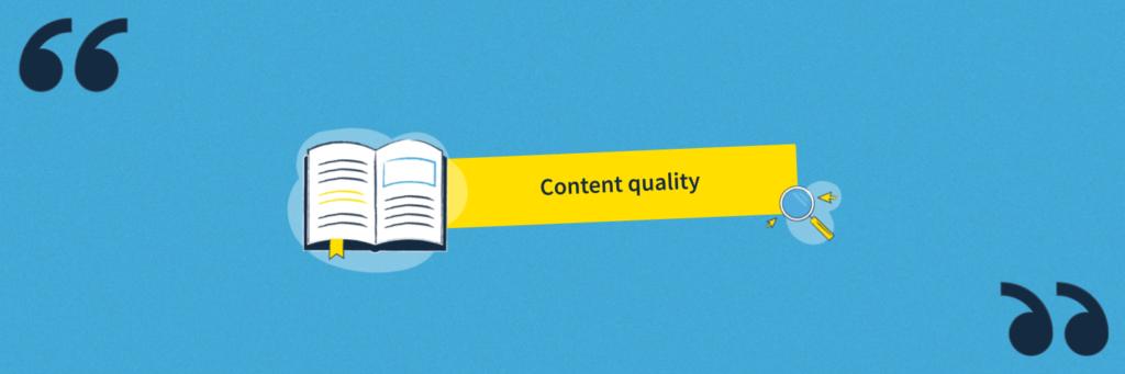 Définition Content Quality