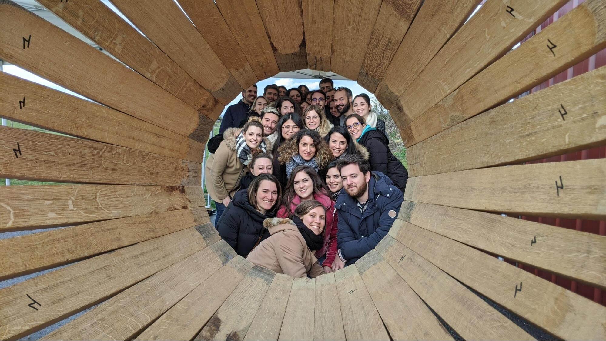 Séminaires Invox: l'équipe Invox lors de l'atelier tonnellerie