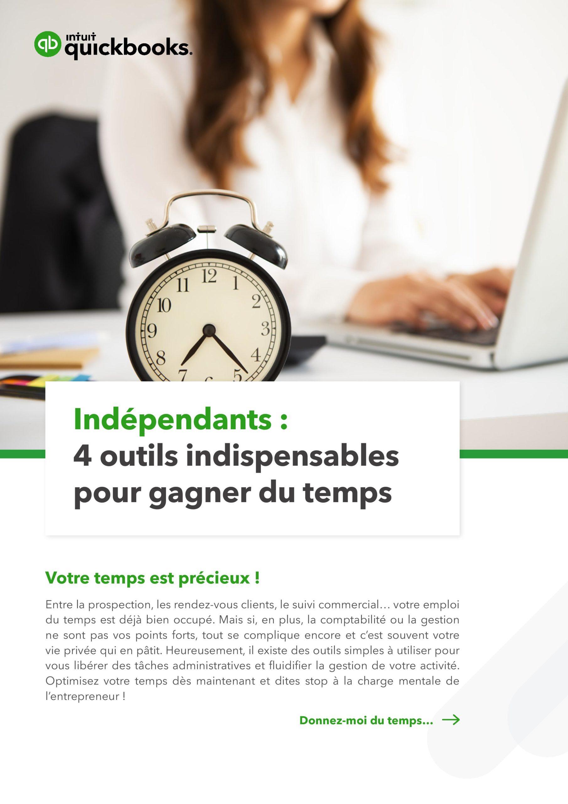 Intuit QuickBooks – Indépendants: 4 outils indispensables pour gagner du temps