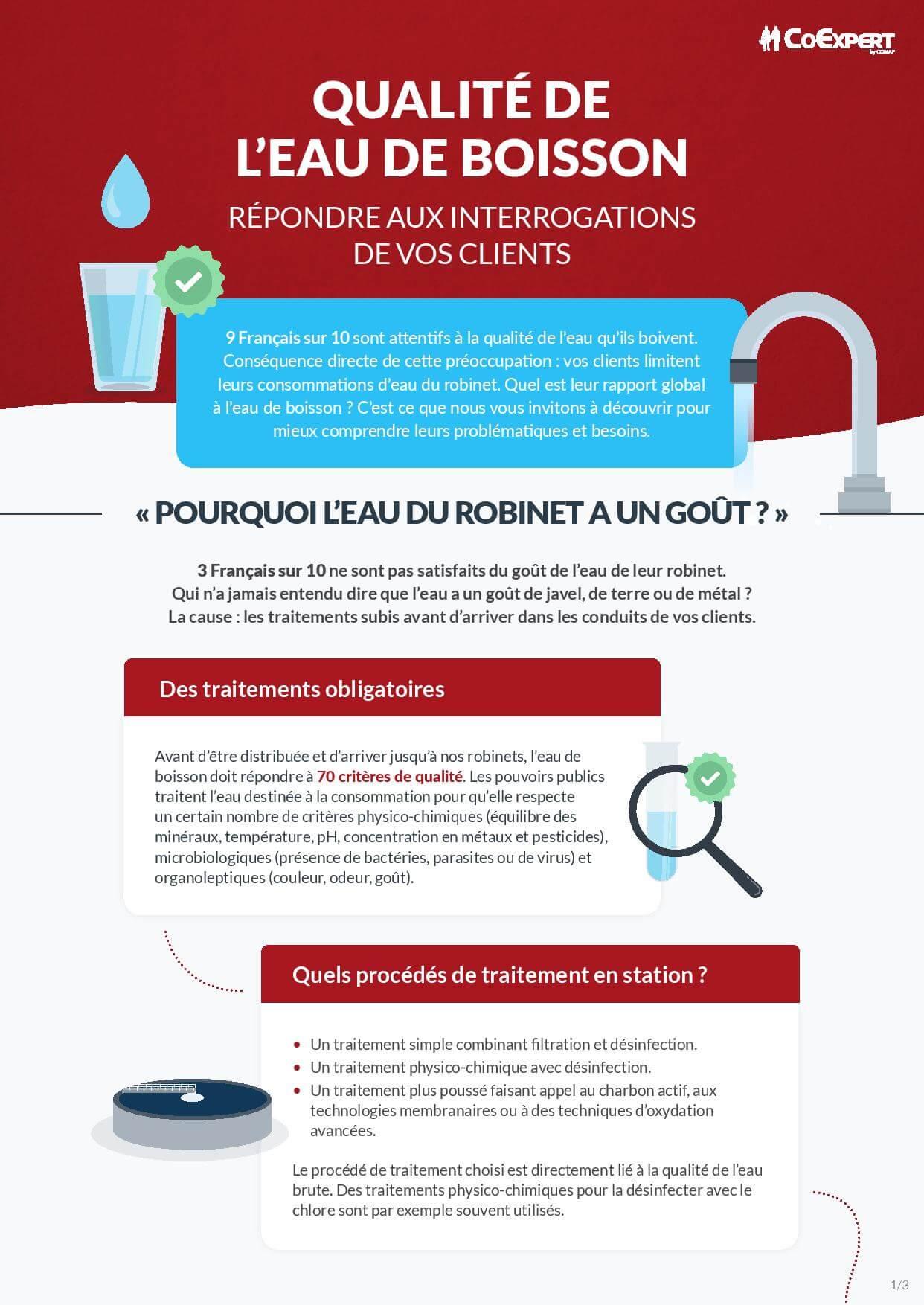 COMAP – Ce que disent vos clients de l'eau de boisson