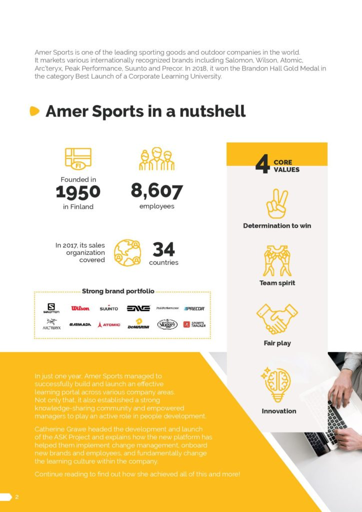 CrossKnowledge use case Amer Sport