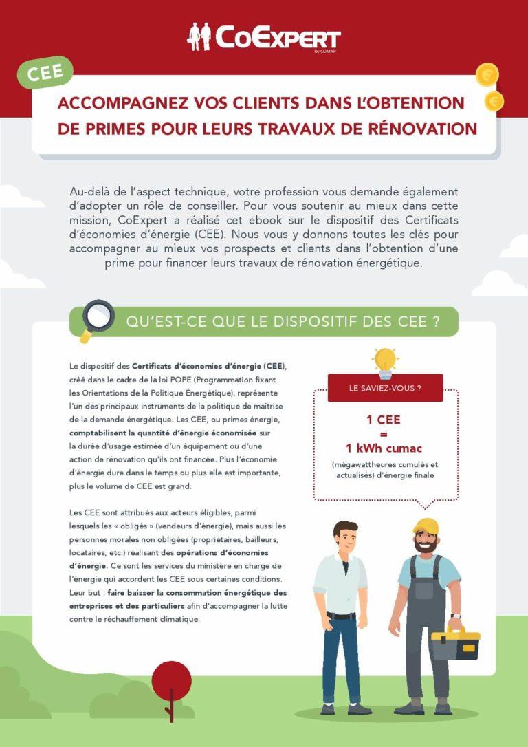 COMAP – CEE : accompagnez vos clients dans l'obtention de primes pour leurs travaux de rénovation