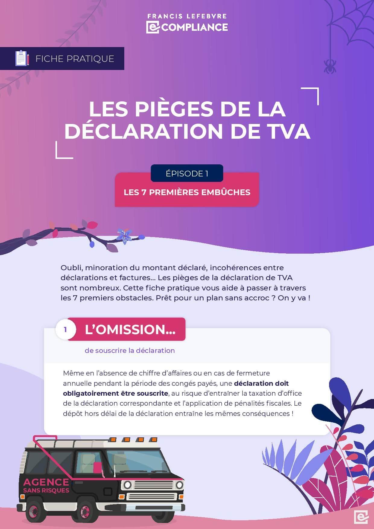 Francis Lefebvre e-Compliance – Les 7 pièges de la déclaration de TVA