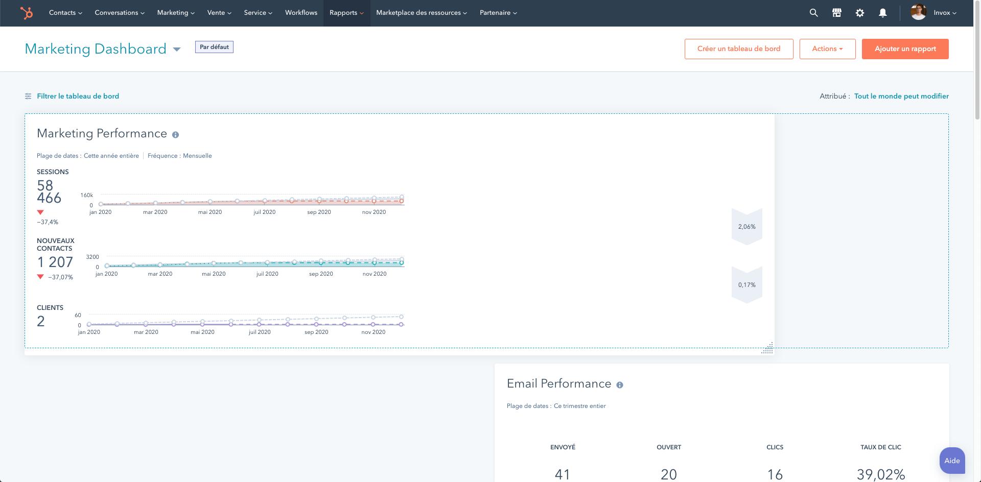 reporting hubspot