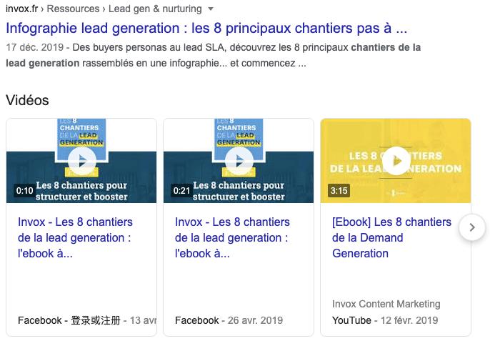 vidéos actualités seo 2020