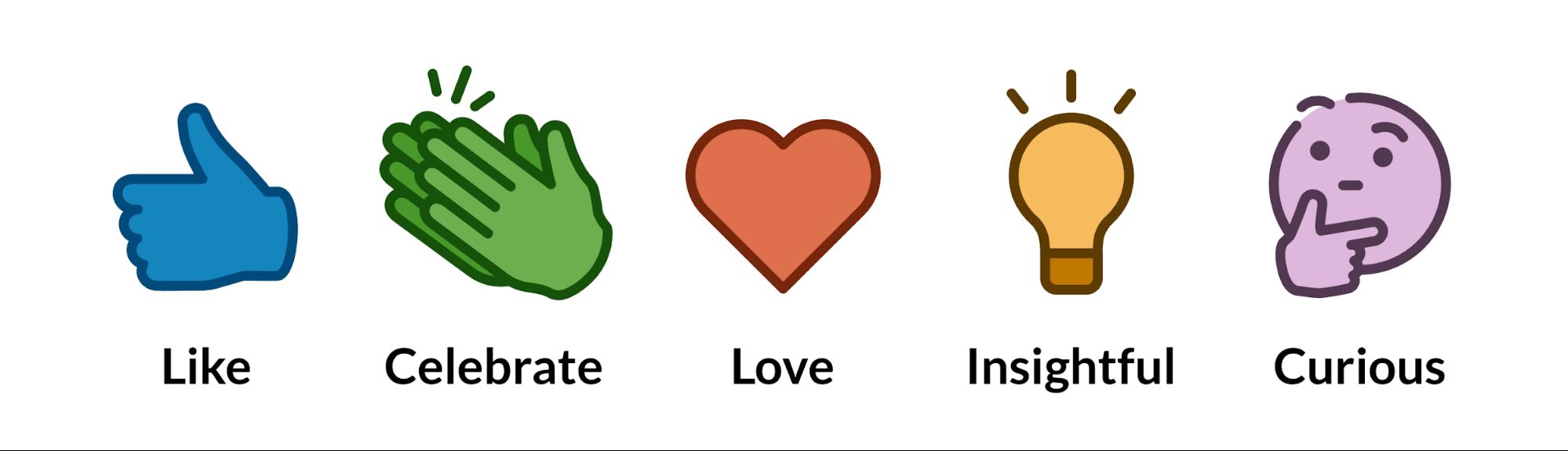 emojis likes sondage linkedin