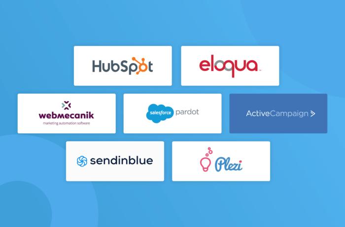 Gestion logiciel marketing automation logos