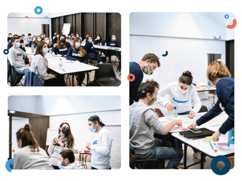 la team Invox travaille sur sa vision vision d'un futur proche